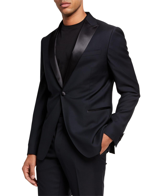 Men's Satin-Trim Two-Piece Tuxedo Suit