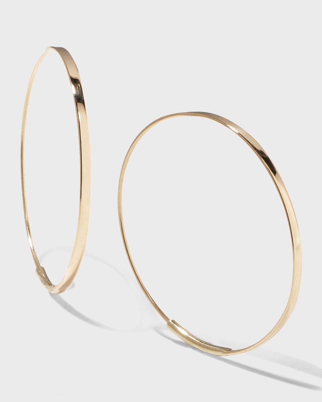 14k Small Flat Magic Hoop Earrings
