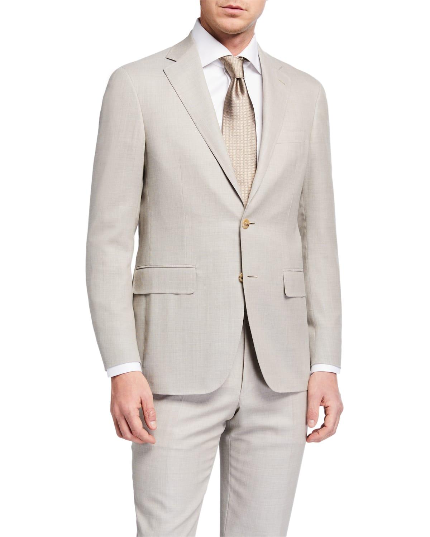 Men's Two-Piece Wool Suit