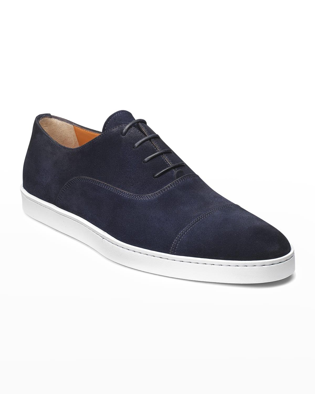 Men's Durbin Suede Cap-Toe Sneakers
