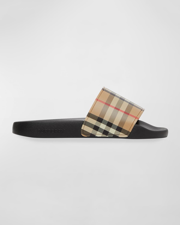 Furley Vintage Check Slide Sandals