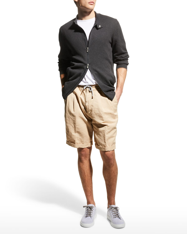 Men's Zip-Front Cotton Cardigan