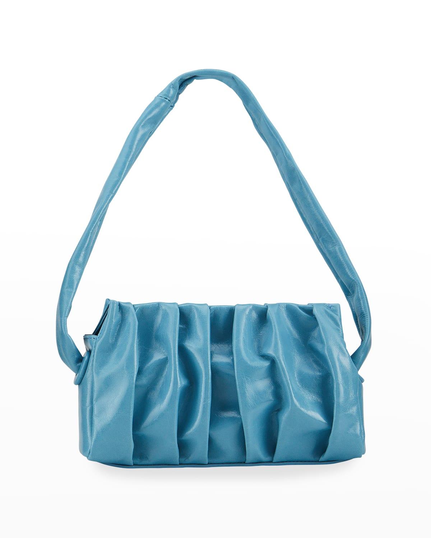 Vague Pleated Leather Shoulder Bag
