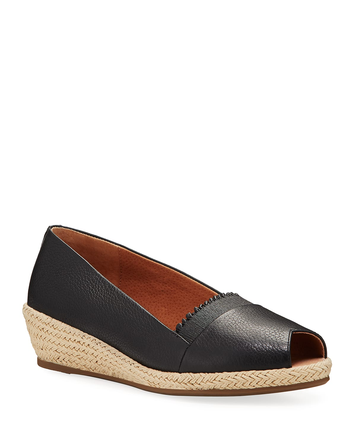 Luci Ruffle Leather Espadrille Loafers