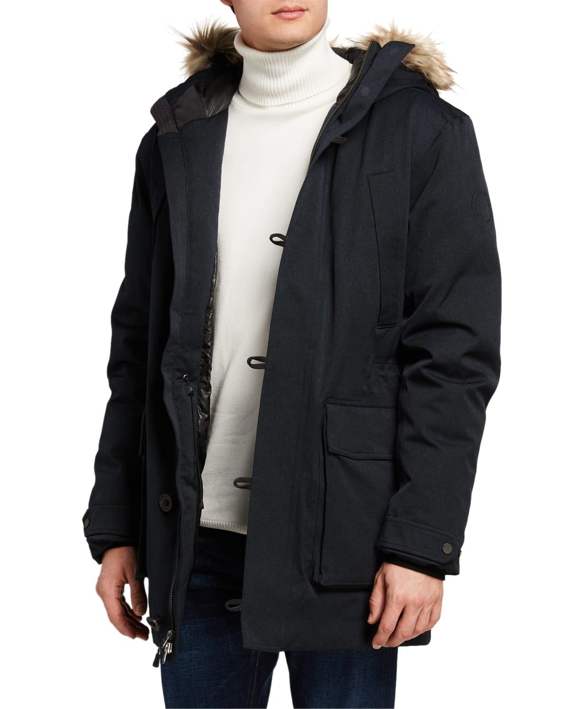 Men's Manitou Parka Coat with Fur Trim