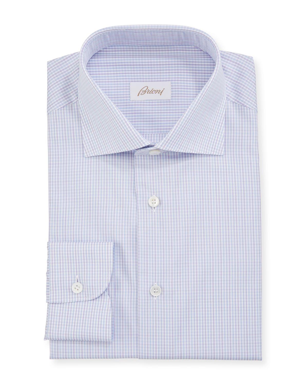 Men's Mini Graph Check Dress Shirt