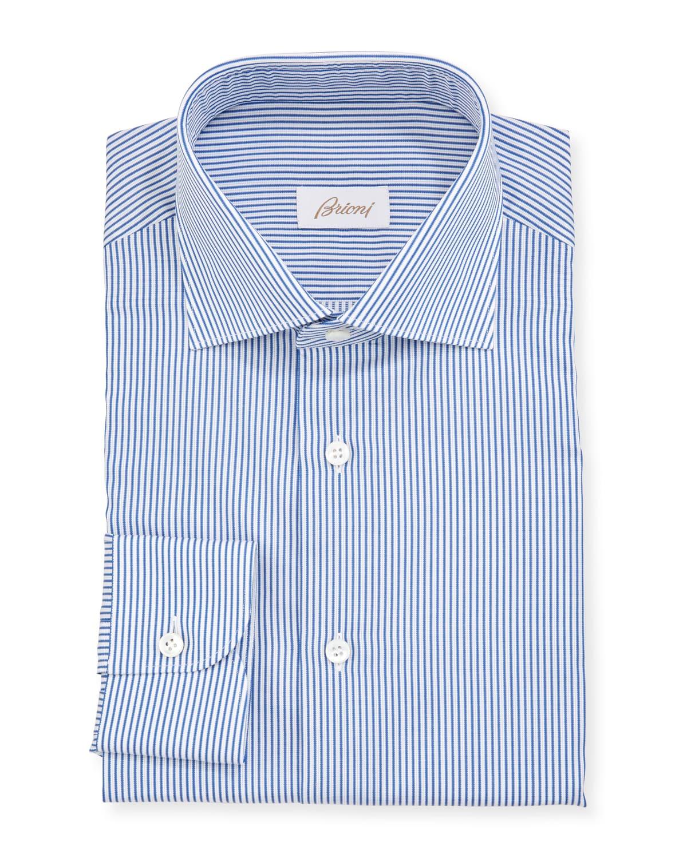 Men's Textured Stripe Dress Shirt