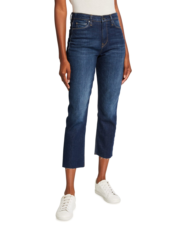 Holly High-Rise Crop Straight-Leg Jeans
