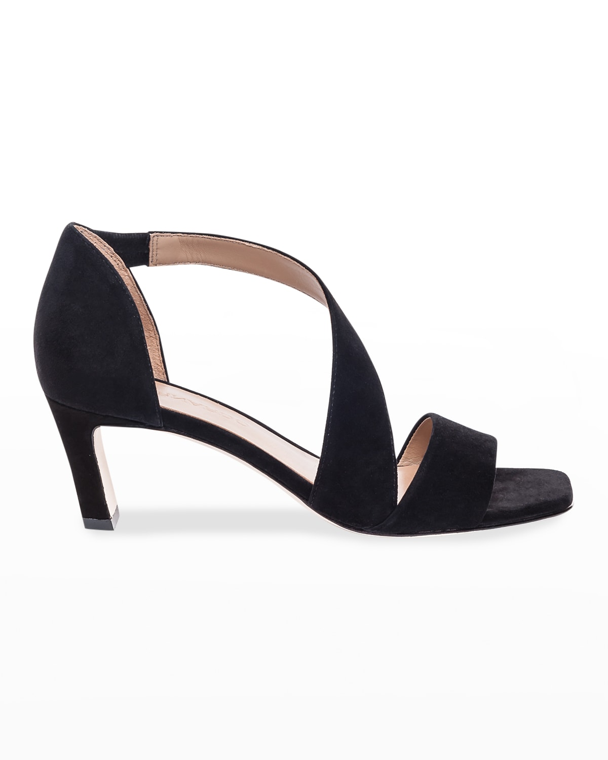 Camille Suede Crossover Strap Sandals
