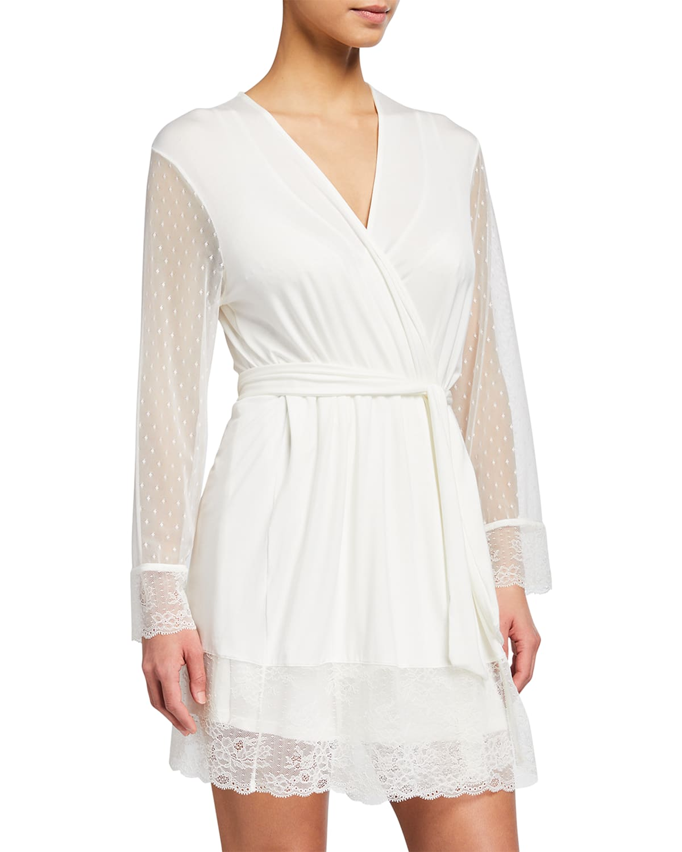 Iona Love Me Lace-Trim Robe