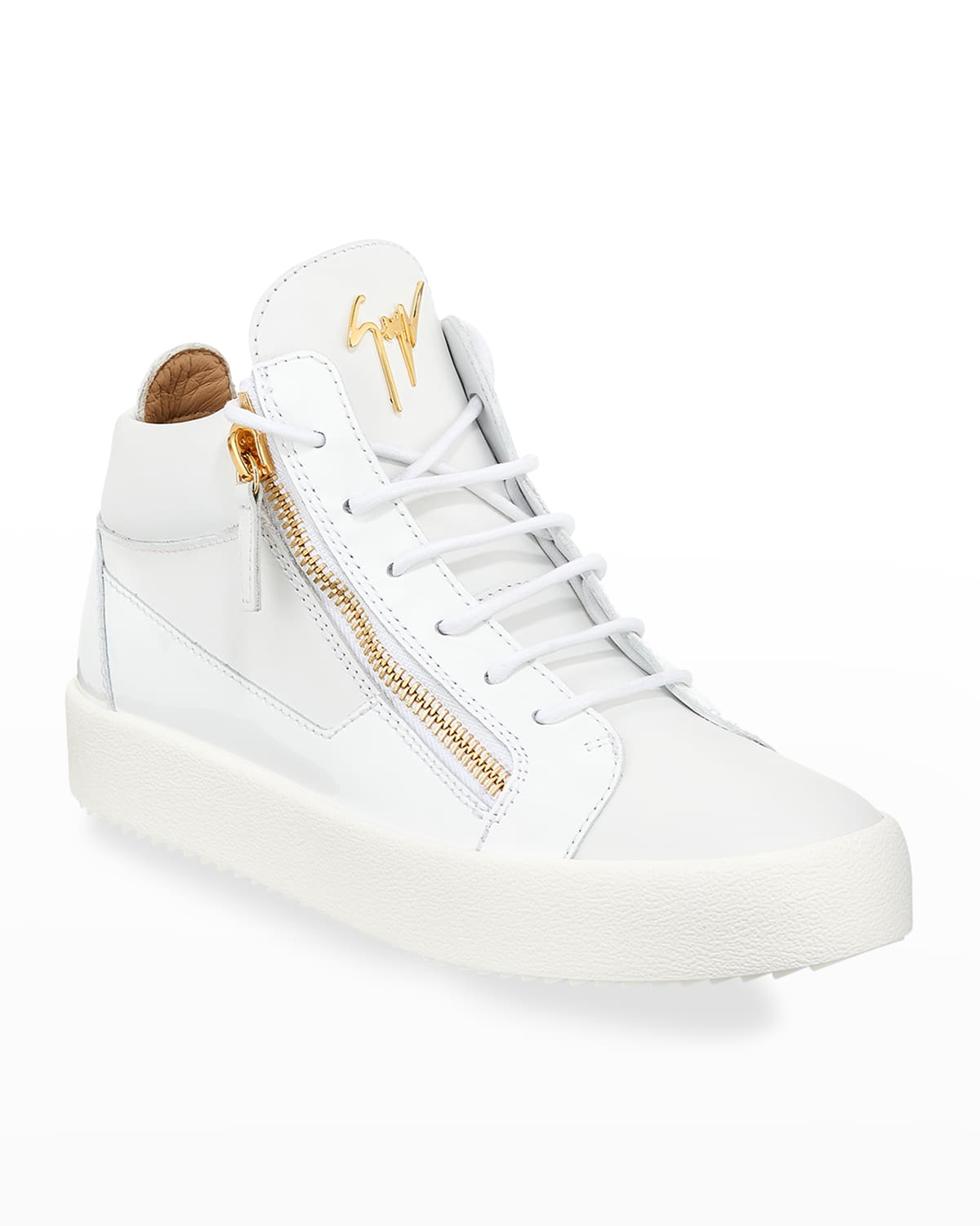 Men's Kriss Leather Mid-Top Sneakers
