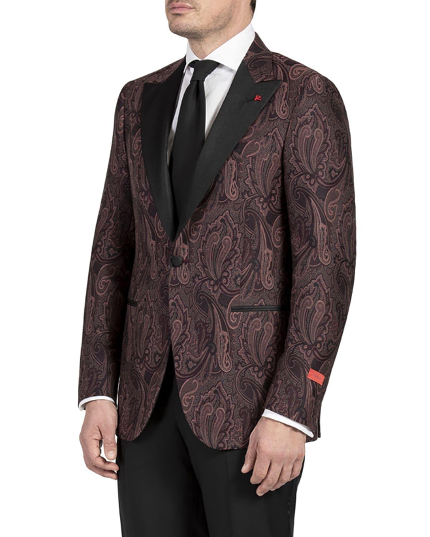 Men's Large Paisley Dinner Jacket