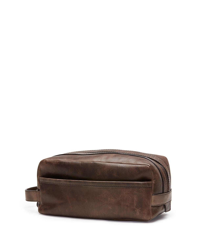Men's Logan Antiqued Leather Travel Toiletry Case