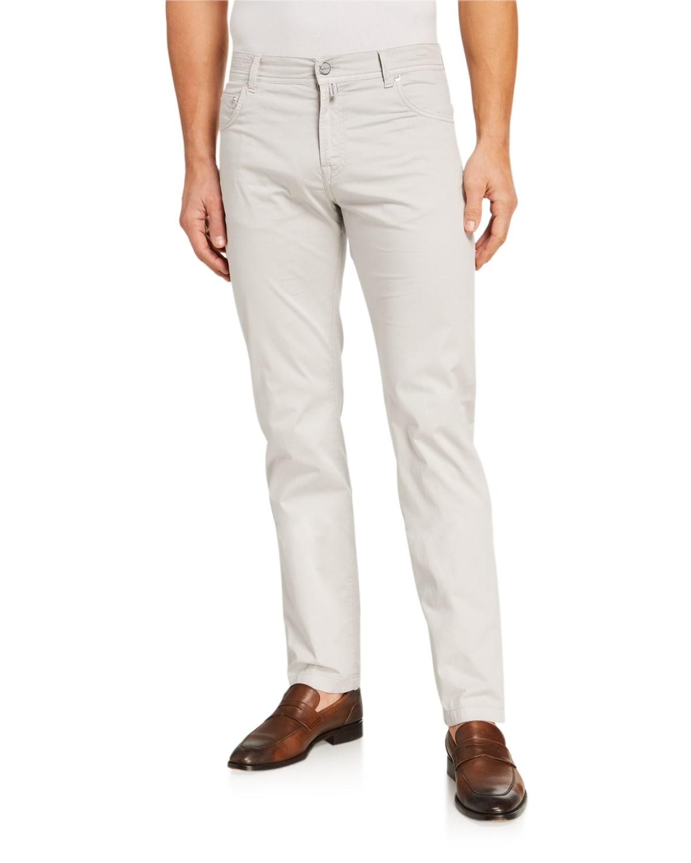 Men's Solid 5-Pocket Stretch Pants