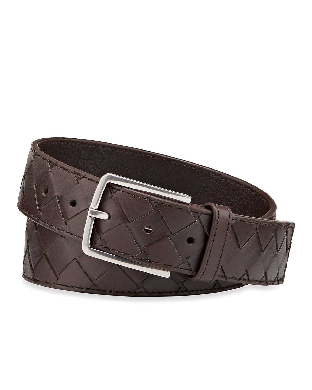 Men's Cintura Intrecciato Leather Belt