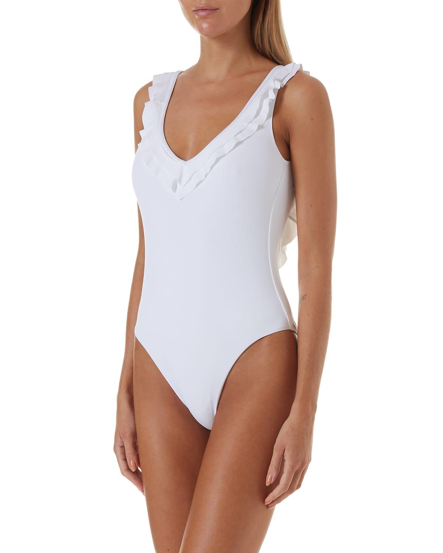 Seville V-Neck Ruffle One-Piece Swimsuit