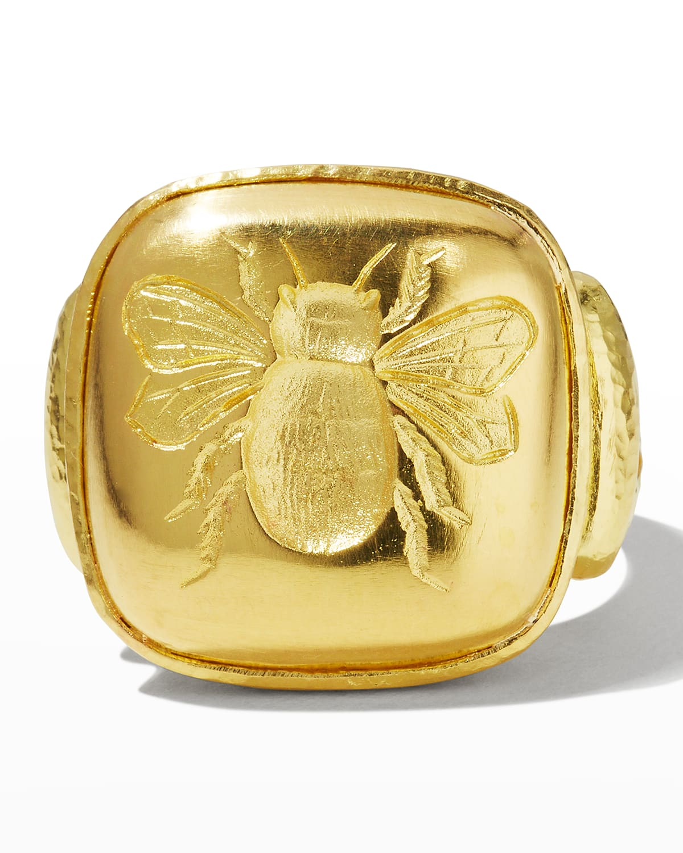 19k Gold Bee Cushion Ring