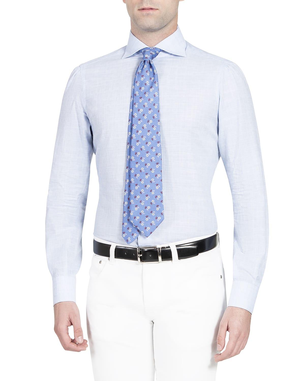 Men's Plaid Poplin Dress Shirt