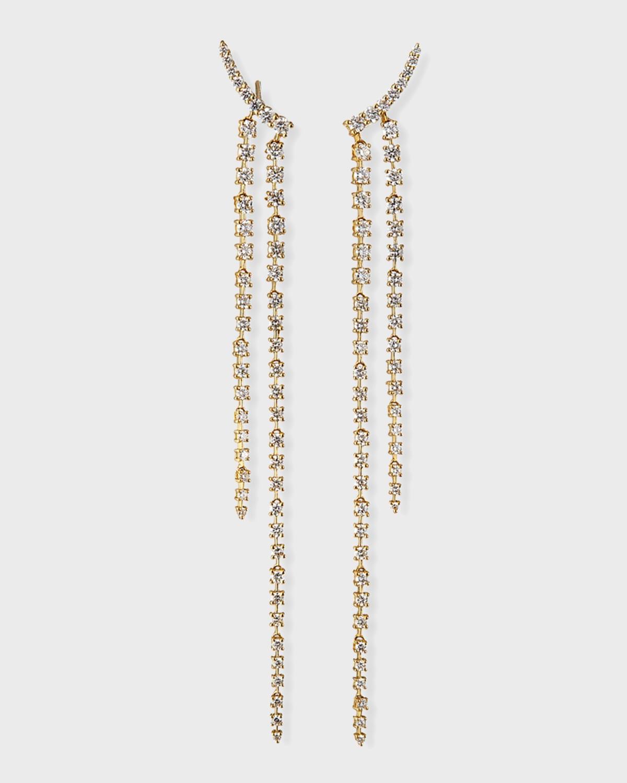 18k Diamond Double Dangle Earrings