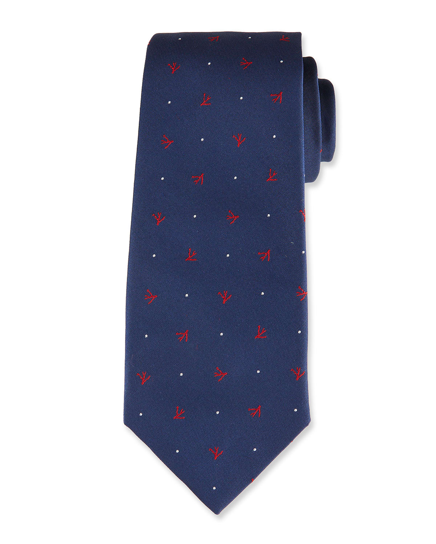 Corals Silk Tie
