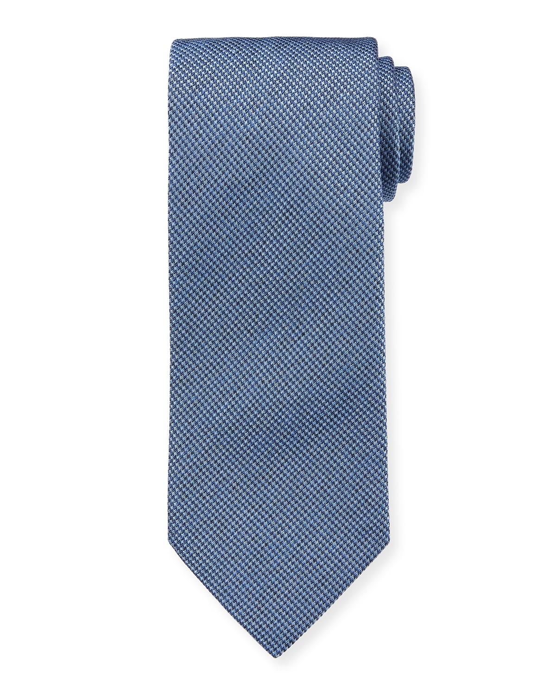 Men's Micro-Houndstooth Silk Tie