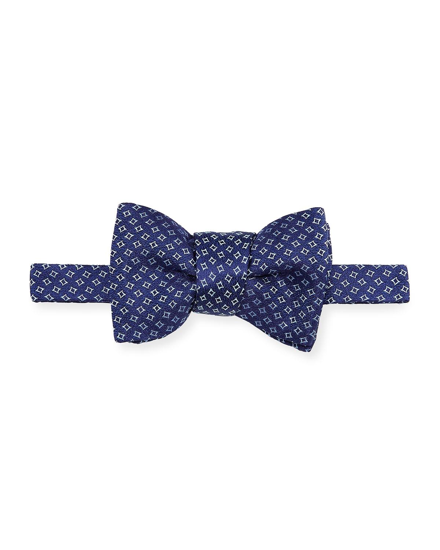 Men's Square Pattern Silk Bow Tie