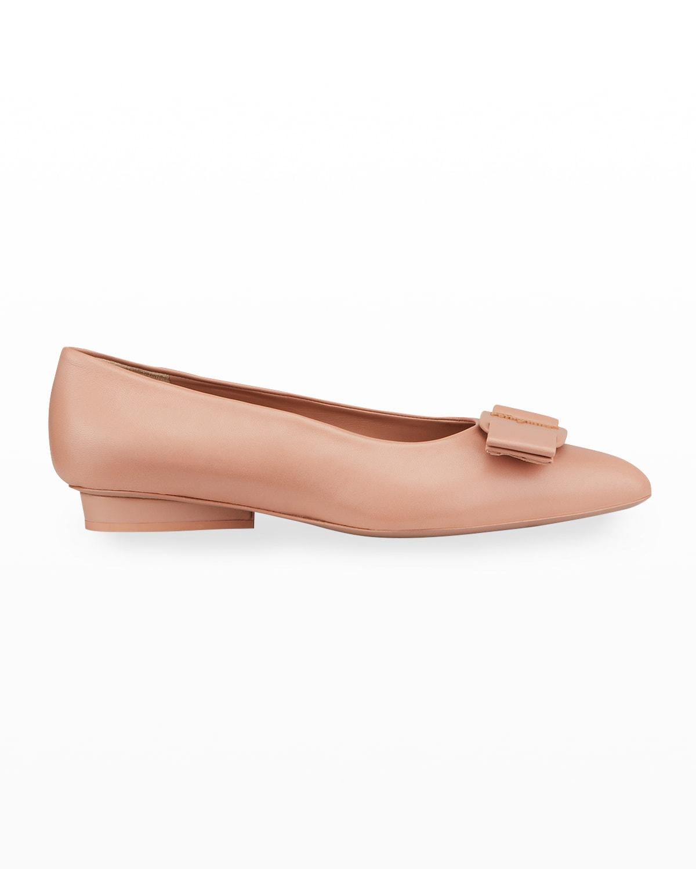 Viva Leather Bow Ballerina Flats
