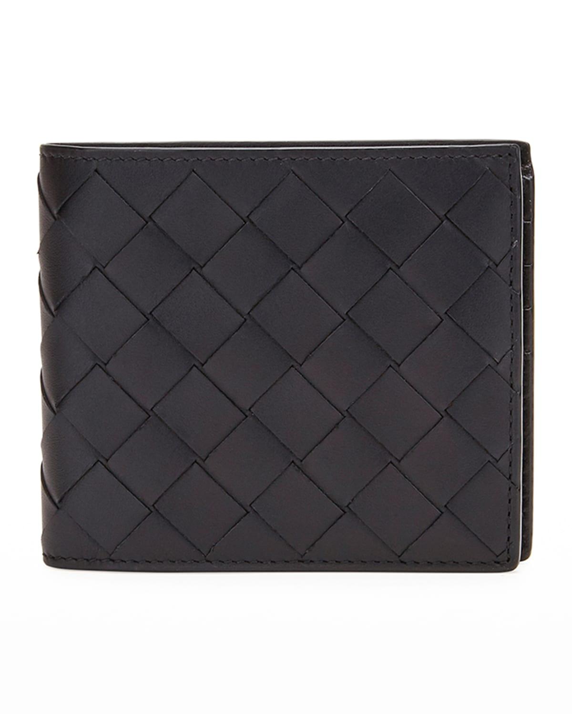 Men's Intrecciato Leather Bifold Wallet