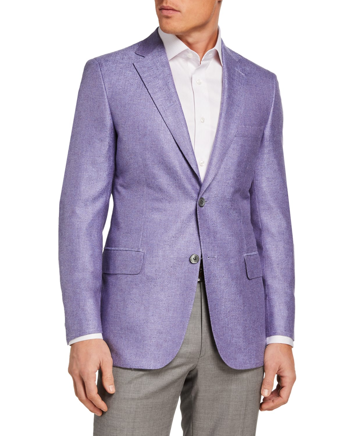 Men's Textured Two-Button Jacket