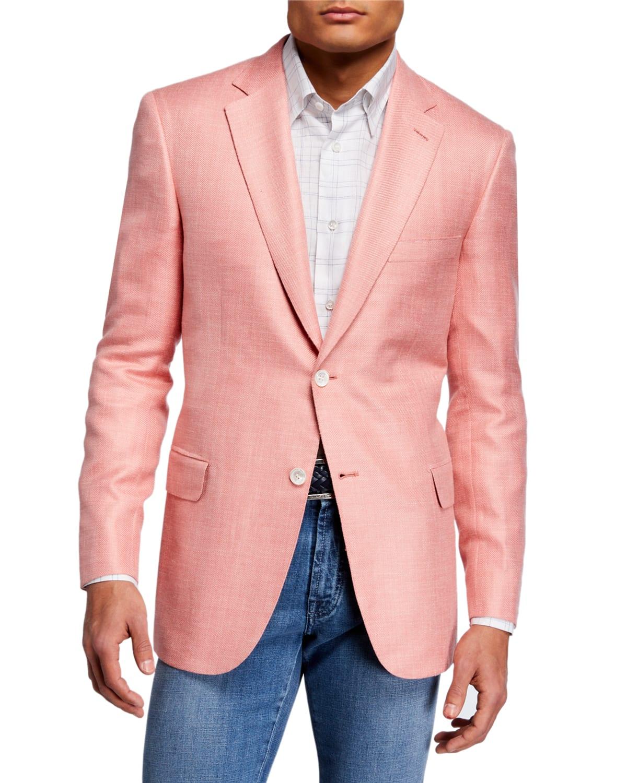 Men's Solid Cashmere-Blend Blazer