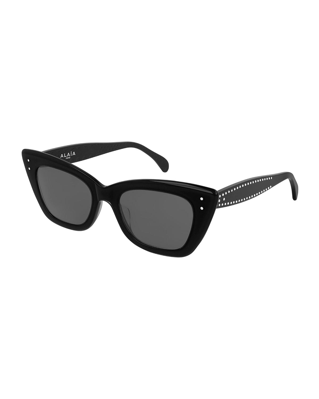 Studded Acetate Cat-Eye Sunglasses