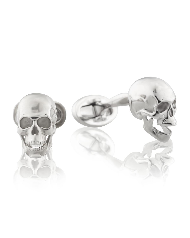 Poor Yorick Skull Cufflinks