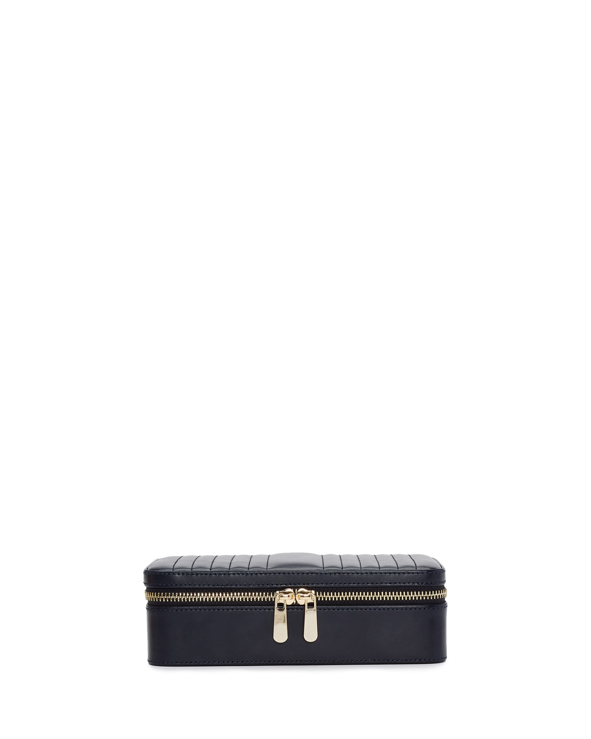 Maria Rectangle Quilted Zip Jewelry Case