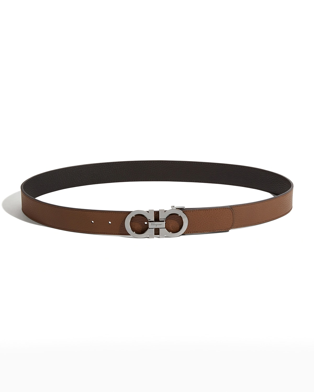 Men's Reversible Leather Gancini Belt