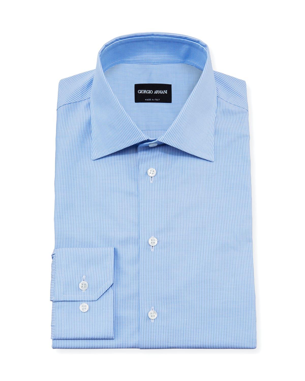 Men's Striped Micro-Weave Dress Shirt