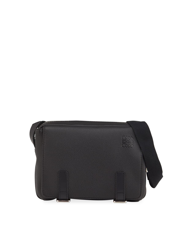 Men's XS Leather Military Messenger Bag