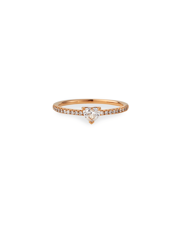 18k Rose Gold Me/You Heart-Cut Diamond Ring