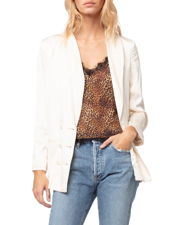 Luxe Silk Tuxedo Jacket