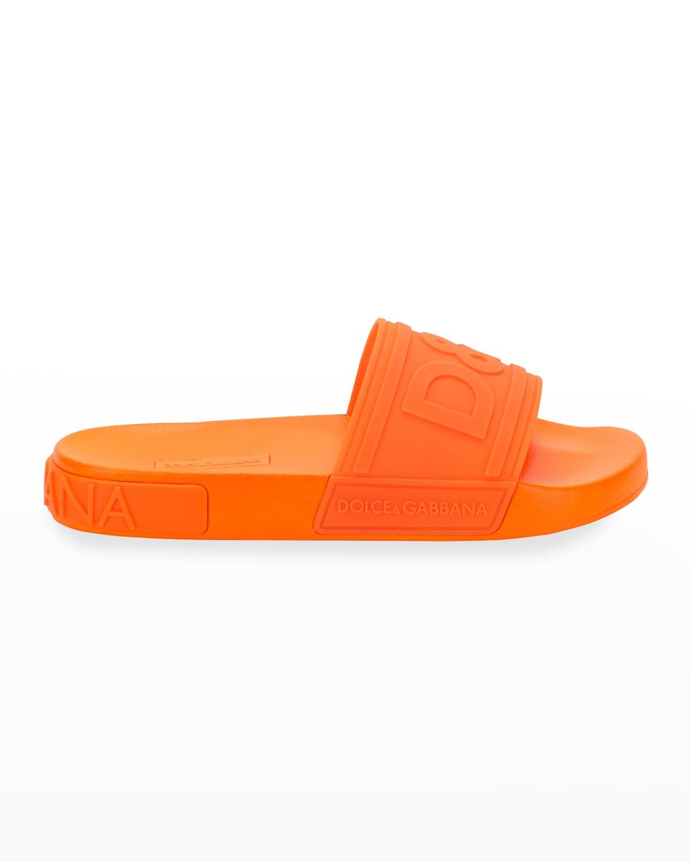 DG Logo Rubber Slide Sandals