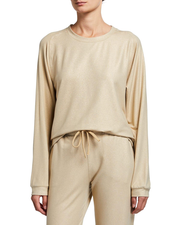 French Terry Metallic Crewneck Sweatshirt