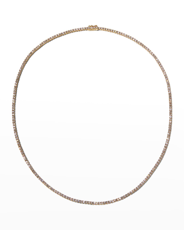 18k Yellow Gold Diamond Choker Necklace