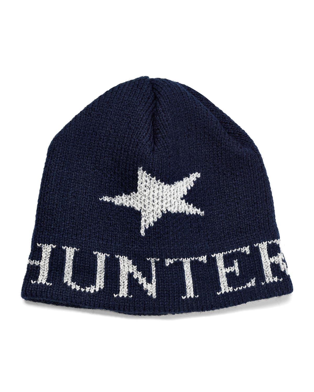 Kid's Single Star Metallic Beanie Hat