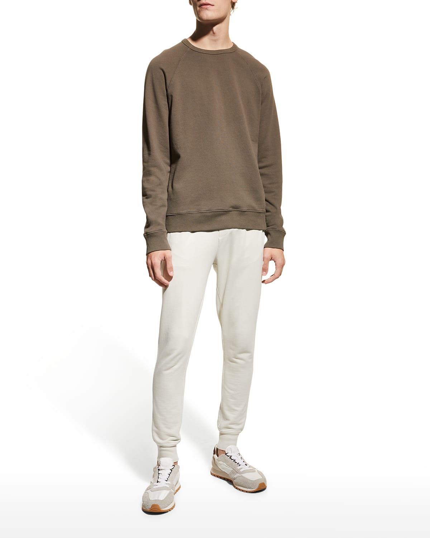 Men's Crewneck Garment Dyed Cotton Sweatshirt