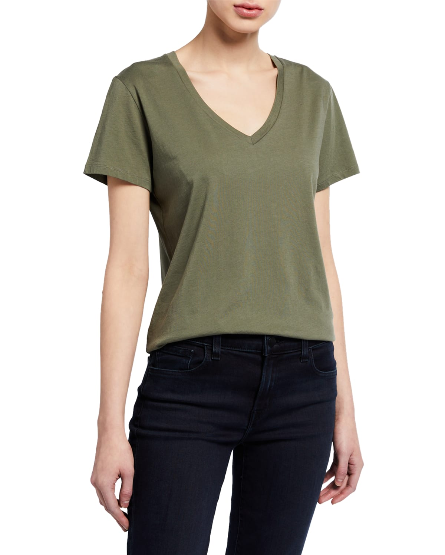 Silk Touch V-Neck Short-Sleeve Tee