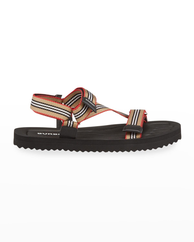 Men's Patterson Icon-Stripe Strap Sandals