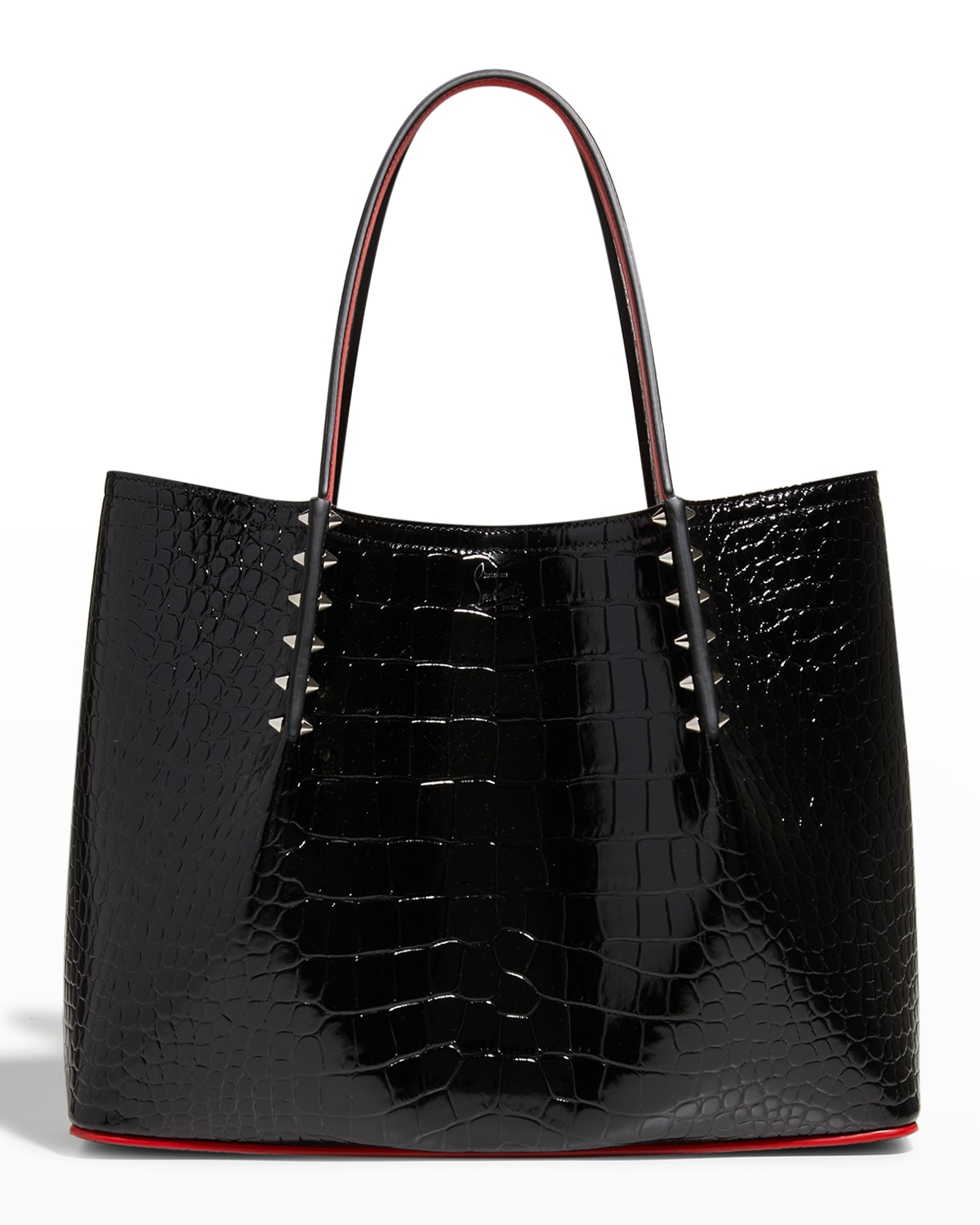 Cabarock Small Mock-Croc Spiked Shopper Tote Bag