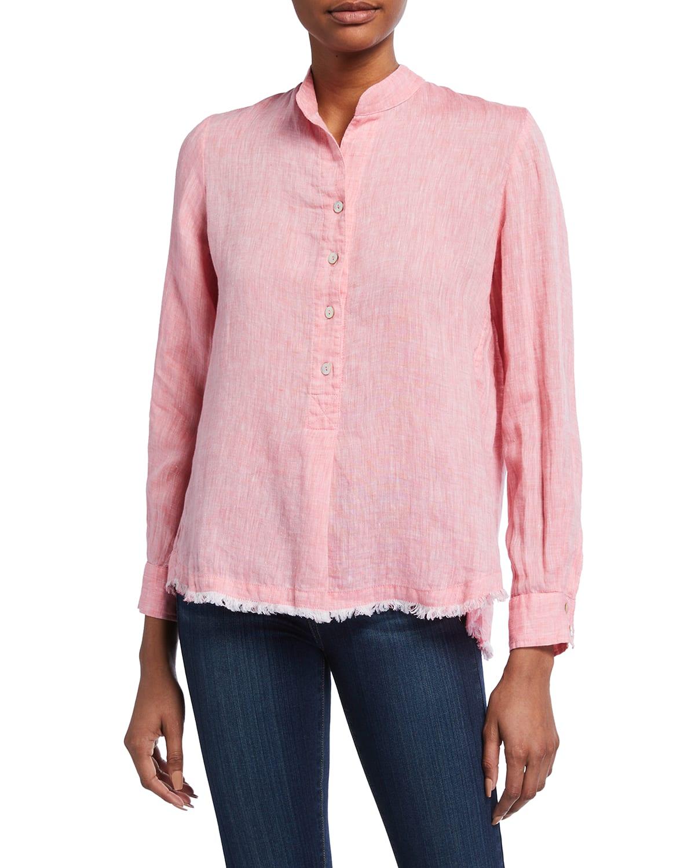 Henri Oversized Washed Linen Popover Shirt