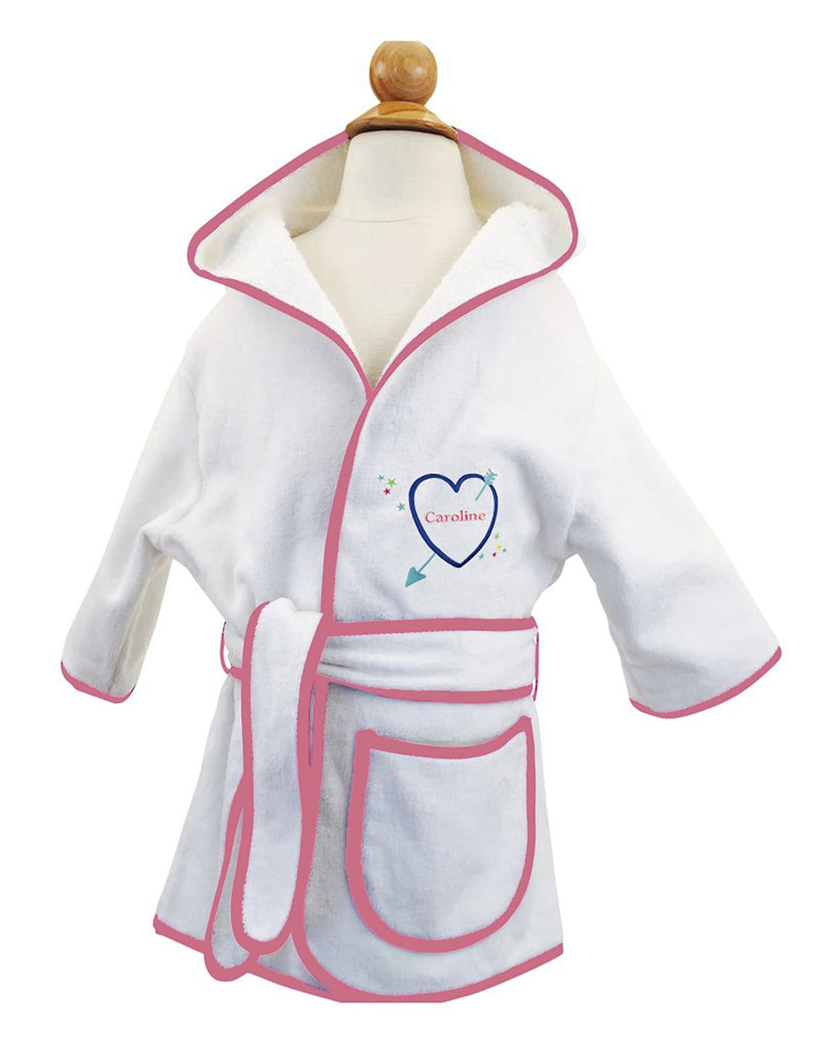 Kid's Terry Heart Hooded Cover-Up Robe, Personalized