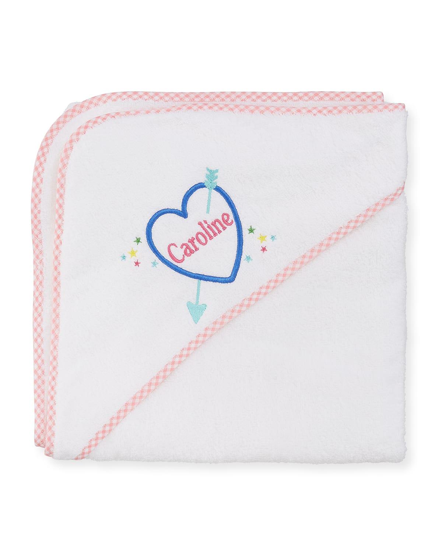Kid's Terry Heart Hooded Towel