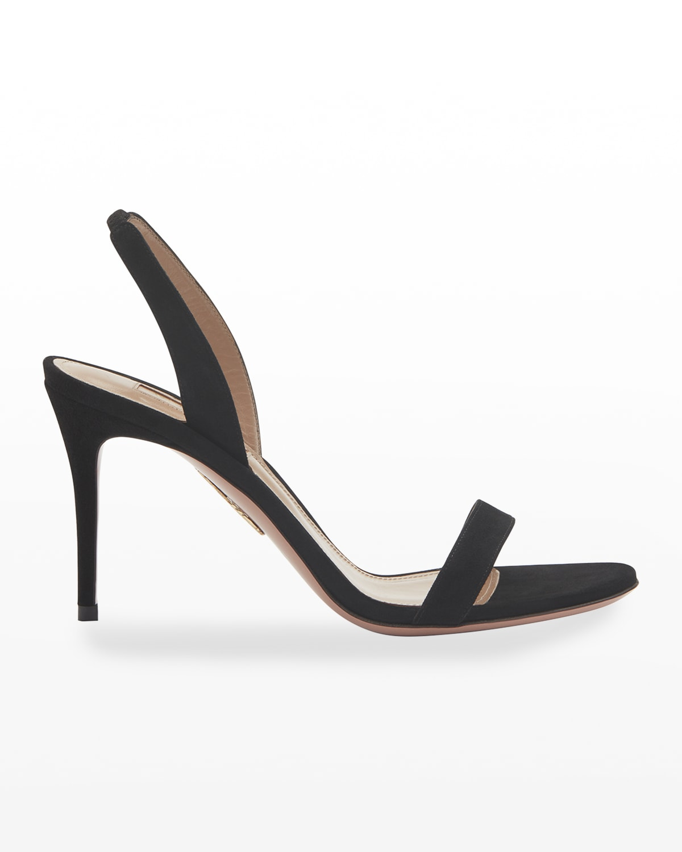 So Nude 85mm Suede High-Heel Sandals
